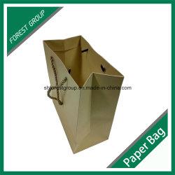 Saco de papel Kraft recicláveis para embalagem de vestuário com alças de PP