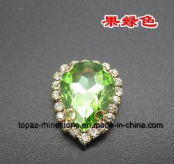 Cristal Lágrima Gostavas de pedra com configuração de Guarnição Rhinestone garra (SW-gota 18*25)