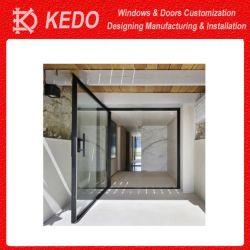 Marché de la Chine en aluminium au design moderne en verre entrée renouvelable de portes de pivot