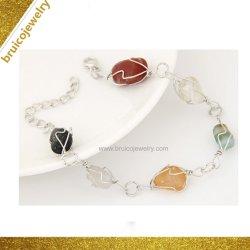 Braccialetto in rilievo di nuovo stile con Onyx nero/braccialetto rosso dell'argento sterlina dell'agata 925 per le ragazze