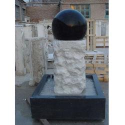 Pierre de granit noir Shanxi jardin extérieur bille flottante de l'eau des fontaines
