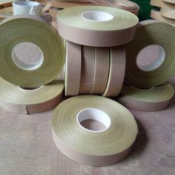 Revestido de Teflon Heat-Resistant fita de tecido de vidro com papel