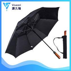 Abrir automaticamente a guarda-chuva dobrável, ventilado de vento Golf Umbrella, Custom guarda-chuva promocional