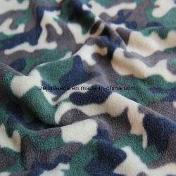 Laine Polaire de camouflage avec deux côtés de la brosse Antipilling 1 côté