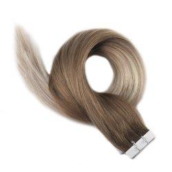 """18"""" ленту в Сен Реми человеческого волоса расширений Ombre-Color № 8/20-Silk-Straight Factory-Price"""