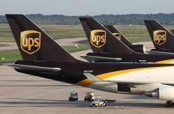 International dell'UPS espresso negli S.U.A.