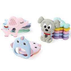 Il commestibile Pendant di Teether del bambino animale di Teether del silicone BPA libera il regalo del giocattolo dei branelli del silicone di fascini di masticazione di dentizione del bambino