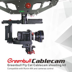 Cablecam Greenbull Fly Cat pour concert vocal, un parti, le Sport Match Diffusion en direct, Film&TV, fête de mariage, le programme TV, Reality Show, scènes de tournage de documentaires