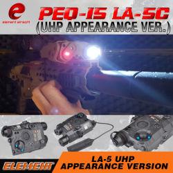 Elemento Airsoft Arma Peq 15 / La-5c UHP laser vermelho DOT luz aspecto táctico Lanterna de infravermelhos EX396
