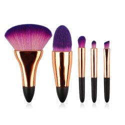 5pcs Highwoo brosse brosses Concealer maquillage Fard à paupières Cute Cosmétique Beauty Tools Mini format voyage ensemble de la brosse de maquillage