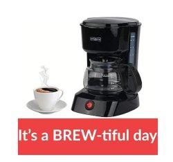 Mini-contactor Brew Cafeteira 4 xícaras de café da máquina de café de pingos América Eletrodomésticos Vidro Borocilicate