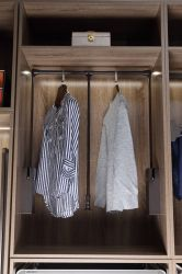 ملابس كبيرة مع خزانة مزدوجة التخزين