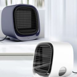 Mini Portátil Ar Condicionado Ar Multifunção Ventiladores USB Purificador Desktop Ar Árctico com tanque de água Home