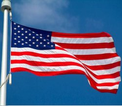 Heavy Duty Drapeau brodé en nylon imperméable USA