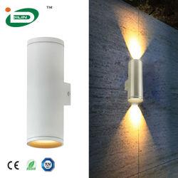 4-10W IP65는 까만 백색 회색 금 옥외 LED 벽 램프 주거를 방수 처리한다