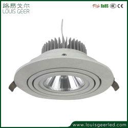 La norma IP54 2700K 3000K 4000K 5000K de montaje de techo eléctrico comercial regulable de 15W Downlight empotrable de luz LED SMD