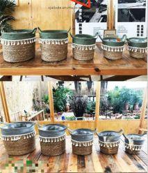 Reed tejidas a mano/Cesta La cesta de maíz/Cesta de flores