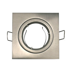 Bevestigde het matrijs Gegoten Nikkel van het Satijn van het Aluminium Vierkante het In een nis gezette LEIDENE van het Halogeen Frame van de Lamp (LT1101)
