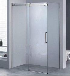 El cuarto de baño deslizante de la esquina del armario de cristal claro de la fábrica de ducha