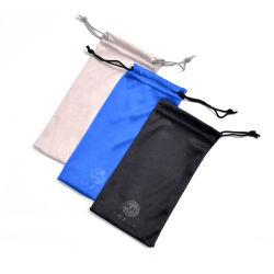 Caso os óculos bolsa de microfibra Drawstrings Duplo Saco Bolsa para óculos