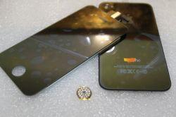 Placage or Chrome ensemble LCD+couvercle arrière+bouton Accueil pour iPhone 4G