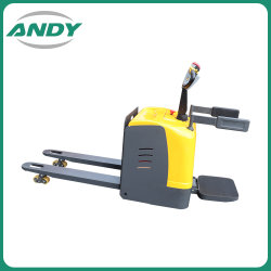 Entrega de material de elevação manual da bateria utilizada mão empurre Telescópica Hidráulica Mini Empilhadeira elétrica