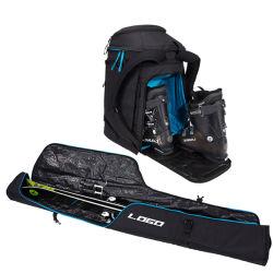 192 cm Preto Rolete de Esqui Bag Combo de pacote para ida e volta