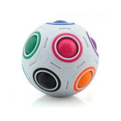 スーパースター教育小型サッカー 12 ホール解凍知的おもちゃフィンガーチップキューブ マジックレインボーボール