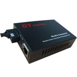 Gestão SNMP 10/100Mbps Bidi Conversor de mídia de fibra (GY-S25F5-03SS-20A-M)