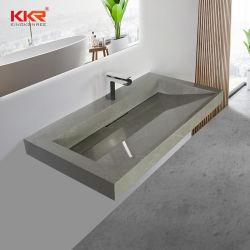 تصميم جديد من الرخام سطح طاولة سوداء حوض الغسيل الحمام فانيتي المشتت العلوي