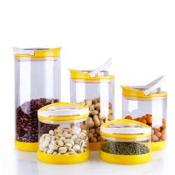 台所ガラス製品の多重サイズのシリコーンの保護袖の容器のびんのゆとりの高いホウケイ酸塩のコーヒーキャンデーのベーキングガラスの瓶