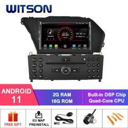 نظام تحديد المواقع العالمي للسيارة Wittson Quad-Core Android 11 لأقراص مرسيدس بنز جلك (2008-2010) وسائط متعددة مدمجة في السيارة فلاش 16 جيجا بايت