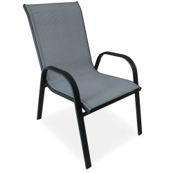 Outdoor Linga empilháveis cadeira back Patio Cadeiras de jantar