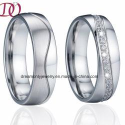 Brossé les anneaux de mariage de l'Engagement de la bande Couple Love Promise Don