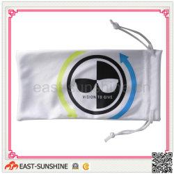 Impreso el logotipo de la microfibra cordón gafas bolsas (DH-M0056)