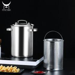 Spargel Gemüsekocher mit innerem Dampfkorb, Edelstahl-Topftopf Pasta-Dampfgarer
