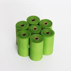De groene Biologisch afbreekbare Plastic Hond Poo van de Zak van het Afval van het Huisdier