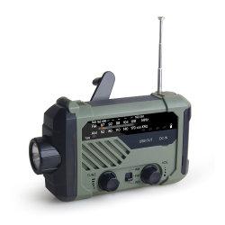 Draagbare RadioNoodsituatie 3 van Noaa van de FM van Handcrank Am in-1 het Laden van het Flitslicht van de Lamp van de Lezing ZonneBank van de Macht 2000mAh voor de Telefoon van de Cel