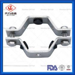 Les mesures sanitaires de cintres hexagonal du tube en acier inoxydable avec oeillets en nitrile ou manchon ABS Pvct Rght