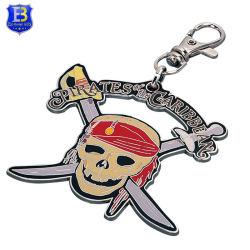 La moda Pirata Regalos promocionales el esqueleto de metal Llavero de cráneo de dibujos animados