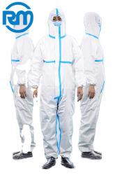 Medizinische schützende Kleid-Fabrik-neuer Potenziometer passte Wegwerflokalisierungs-Kleidung der Produkt-medizinische Verbrauch-nicht sterile Gesundheit Gewebe-Verstärkte Fabrik-Nicht-Wo an