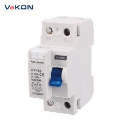 2p21-63 Vl 20A 30mA 300 mA 100 mA, dispositif à courant résiduel RCD