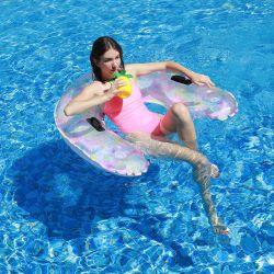 جديدة تصميم فصل صيف ماء لعبة لعب قابل للنفخ زاهية ماء كرسي تثبيت برمة عوّامة