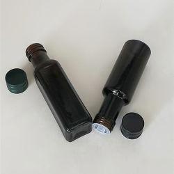 100ml Garrafa de Refrigerantes Tan Square vaso de azeite ronda marrom 500ml Flaxseed vaso de Óleo do Reservatório de Óleo