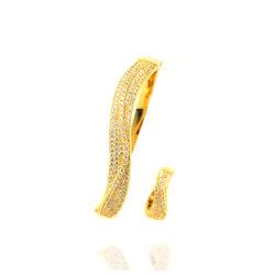 유선형 금 은 팔찌 팔찌 형식 보석 부속품은 도매한다