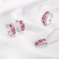 """Оптовая торговля """"Кирин"""" Женщина моды серебристые украшения Аксессуары Аксессуары для ювелирных изделий BIJOUX устанавливает подвесной серьги кольцо 925 серебристые украшения,"""