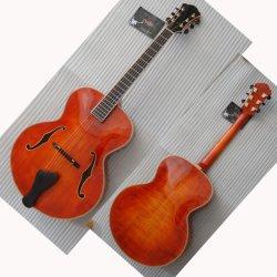 La guitarra de jazz acústico de 17 pulgadas Color Archaizeed--- No chaqué