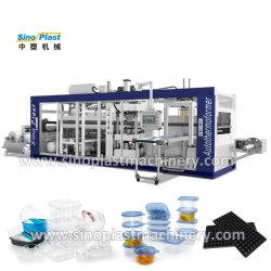 3 in 1 4 in 1 Plastikmaschinenhälften-Paket-Frucht-Ei-Tellersegment-Kasten-Sämling-Tellersegment-elektronischem Tellersegment-Kappen-PlatteFlowerpot Thermoforming Vakuum, das Maschine herstellend sich bildet
