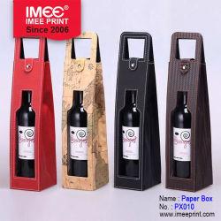 Imee高級なPUの革ワイン・ボトルボックス