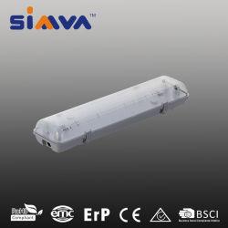 Accesorio de iluminación LED de Simva Tri-Proof 2FT tubos dobles Clearcover 18W (36W tubo fluorescente equivalente) 1600LM 3000-6500K 85-265 V IP65 180degee